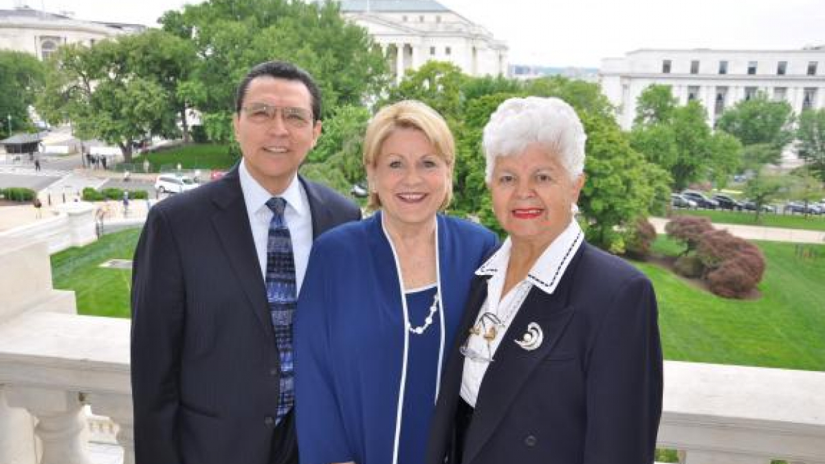 Pictured from left to right: Reverend Benjamin Venegas, Dr. Patricia Venegas, and Rep. Napolitano on the balcony of the U.S. Capitol.