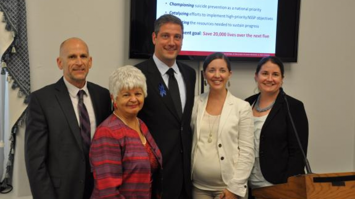 Left to Right: Dr. David Litts, Rep. Grace F. Napolitano, Rep. Tim Ryan, Katherine Deal, Colleen Carr