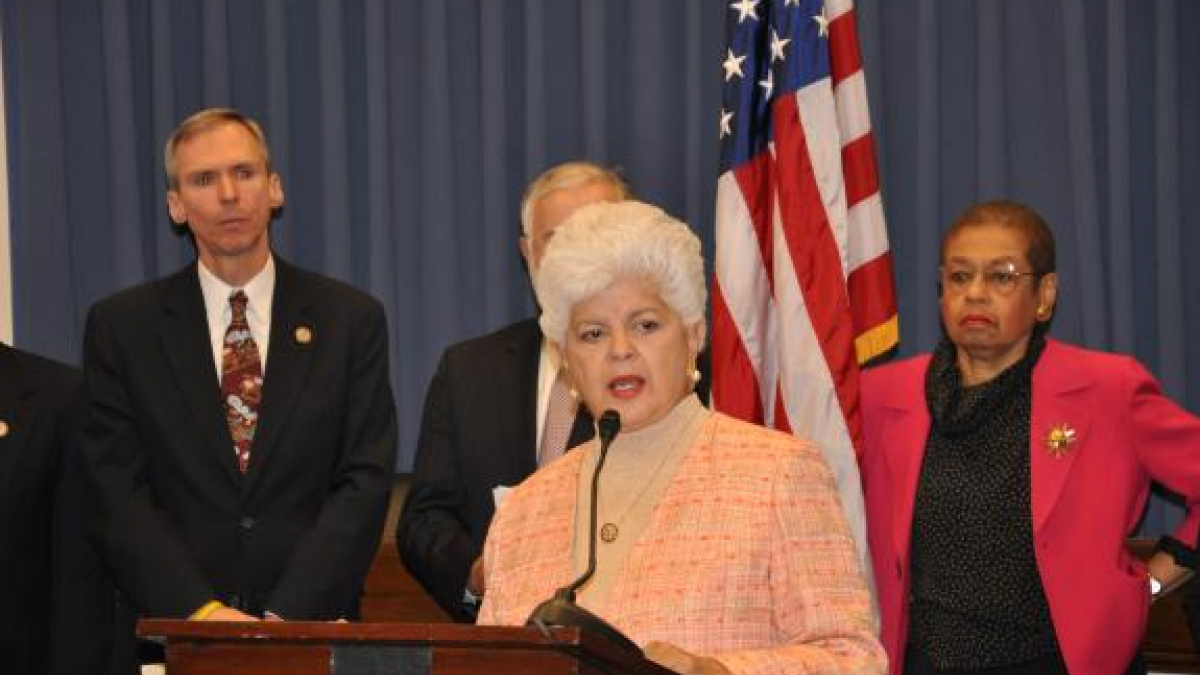 Rep. Napolitano announces the Invest in American Jobs Act with fellow Democrats on the House Committee on Transportation and Infrastructure