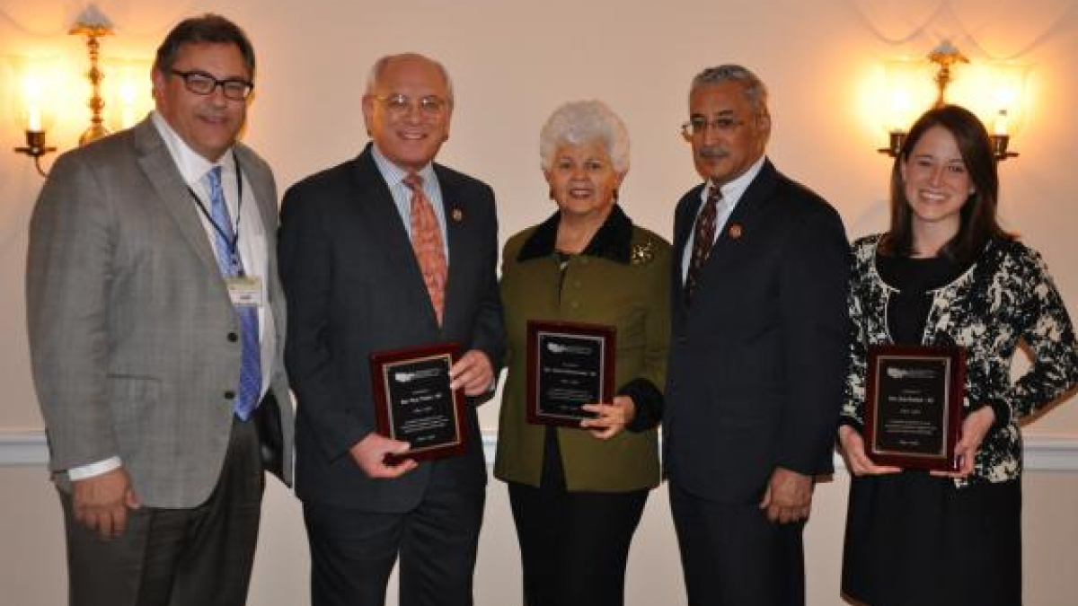 Pictured from Left to Right: NACBHDD Board President Jeff Brown; Reps. Paul Tonko, Grace Napolitano, Bobby Scott; Lauren Alfred on behalf of Rep. Ron Barber
