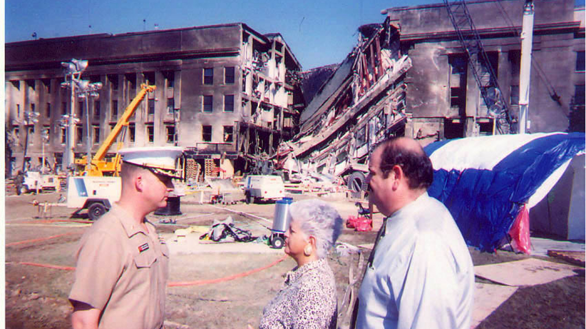 On September 13, 2001, a Marine escort briefed Rep. Napolitano and her former Chief of Staff Chuck Fuentes on the damage at the Pentagon which occurred during the terrorist attack.