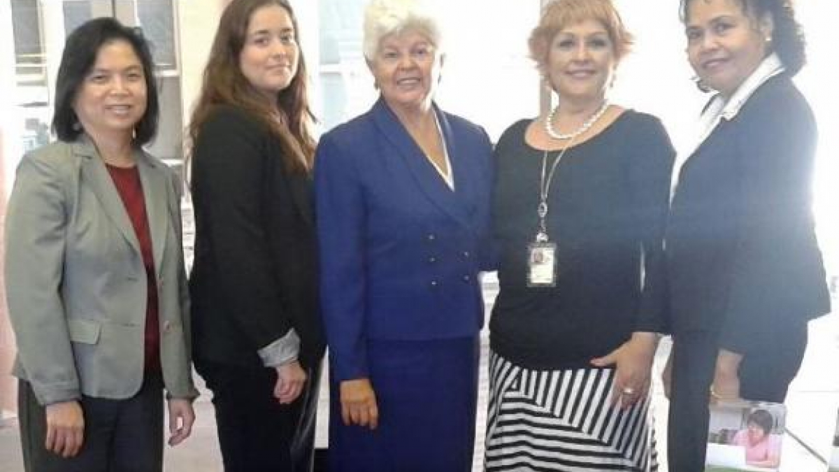 Rep. Grace Napolitano (middle) with US Citizenship and Immigration Services officials at the immigration clinic in Baldwin Park.