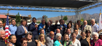 Napolitano joins residents and public officials to mark the completion of the Gold Line Foothill Extension in Azusa on September 18, 2015