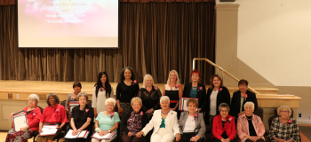 Napolitano Seated with 32nd District 2017 Women of the Year