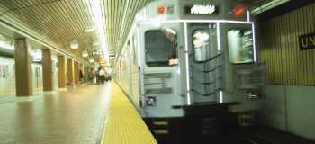 a train in the subway