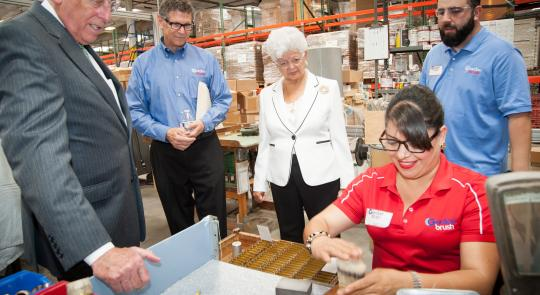 Napolitano, Hoyer Visit Gordon Brush in the City of Industry feature image