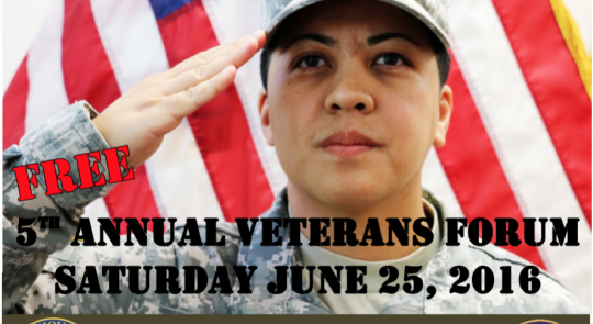 5th Annual Veterans Forum – Saturday, June 25, 2016 feature image