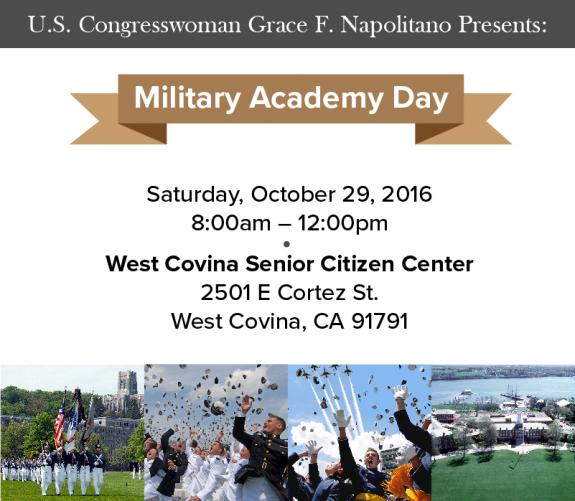 Rep. Napolitano to Host Military Academy Day